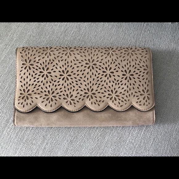 Aldo Handbags - Large tan coloured crossbody / clutch .